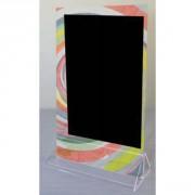 Chevalet de table à socle - Dimensions : 25 x 15 cm - Socle cristal