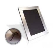 Chevalet de table ALU BROSSE A4 avec pied métal - Dimensions  : 27,8 x 22 x 30 cm
