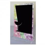 Chevalet de table avec socle cristal - Dimensions: 25 x 15 cm - Socle cristal
