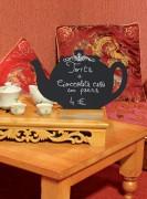 Chevalet de table avec socle en bois - Socle en bois