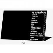 Chevalet de table présence allergènes - Vendu par paquet de 10 - 7x5 cm