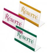 Chevalet de table réservé - Dimensions (cm) : 10 x 3,2 x 5,8