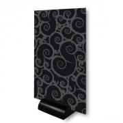 Chevalet de table sur socle PVC noir - Dimensions : 15 x 25 cm - Paquet de 3