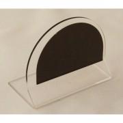 Chevalet de table transparent neutre - Dimensions : 6 x 4.5 cm - Neutre