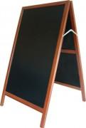Chevalet de trottoir 2 faces cadre bois exotique - Dimensions (cm) : 115 x 65 x 80