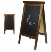 Chevalet de trottoir affichage menu restaurant - Deux faces - Dimensions (L x h) : 65 x 118 cm