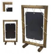 Chevalet de trottoir ardoise pour restaurant - Rondins - Dimensions (L x h): 80 x 129 cm