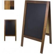 Chevalet de trottoir ardoise restaurant - Double face - Dimensions (L x h) : 65 x 118 cm