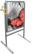 Chevalet de trottoir basculant - Dimension (Lxh) : 700 x 1000 mm