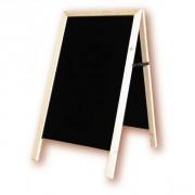 Chevalet de trottoir cadre bois - Surface d'écriture : 60x100cm