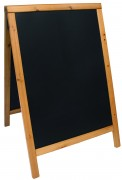 Chevalet de trottoir en pin - Dimensions (cm) : 85 x 55 ou 125 x 70 – Finition Noir, Teck ou Acajou