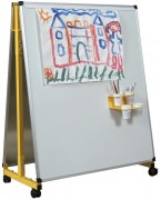 Chevalet mobile et mural - Dimensions Ht x Lg (cm) : 108 x 92 – Piétements jaune