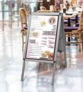 Chevalet porte affiche de trottoir - Dimensions (Lxh) : 500 x 700 - 700 x 1000 mm