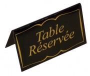 Chevalet pour table réservée - Dimensions (cm) : 10 x 5 x 6