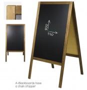 Chevalet restaurant de trottoir - Dimensions (l x H) : 610 x 1180 mm - cadre en bois
