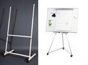 Chevalet tableau blanc magnétique - Pour tableau jusqu'au format 100 x 150 cm