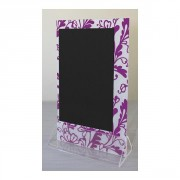 Chevalets de table PVC cristal - Dimensions : 15 x 25 cm - Socle cristal