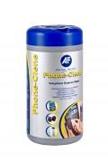 Chiffonnette nettoyante désinfectante téléphone - Boîte distributrice de 100 chiffonnettes pré-imprégnées