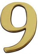 Chiffre adhésif doré - De 0 à 9 - Hauteur : 40 mm