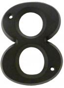 Chiffre zamak - Chiffres disponibles : 0 à 9 - Hauteur : 8 cm