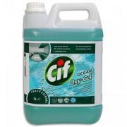 CIF PROFESSIONAL Flacon 5 litres nettoyant multiusage oxygel à l'oxygène actif fraicheur océan - Cif