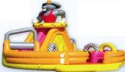 Circuit gonflable de course pour enfant - Dimensions (m) 18,7 x 8,7 x H 5,8