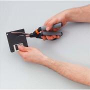 Ciseaux pour matériaux difficiles, Force et confort, longueur totale 26cm, coupe 21cm - Fiskars
