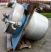 Cuve double enveloppe en inox occasion - Réservoir cylindrique capacité de stockage 1200 litres