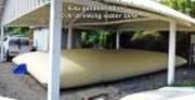 Citerne tissée eau potable 70 m3 - Dimensions: 8,70 x 7,68 x 1,40 (lxLxH en mètre)