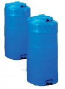 Citernes de stockage verticales - Cuve polyéthylène : Capacité (L) : de 750 à 13000