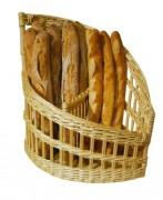 Claie à pain en osier - Dimensions (cm) : 45 x 24 x 15 x 50 - 50 x 32 x 21 x 50