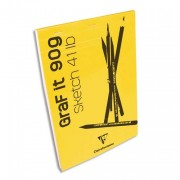 CLAIREFONTAINE Bloc de croquis Graf It format A5 80 pages microperforées 90g - Clairefontaine