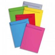 CLAIREFONTAINE Boite de 200 pochettes POLLEN format 229x324 mm coloris gris acier référence 7073 - Clairefontaine