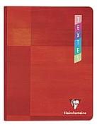 CLAIREFONTAINE Cahier de textes reliure brochure 17x22 cm 144 pages couleurs - Clairefontaine