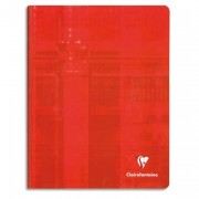 CLAIREFONTAINE Cahier reliure brochure 17x22 cm 192 pages grands carreaux papier 90g - Clairefontaine