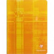 CLAIREFONTAINE Cahier reliure piqûre 17x22 cm 144 pages petits carrreaux papier 90g - Clairefontaine