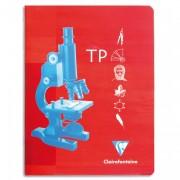 CLAIREFONTAINE Cahier travaux pratiques reliure piqûre 24x32cm 32p unies 120g+32p grands carreaux 90g - Clairefontaine