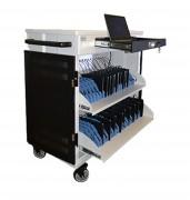 Classe mobile 16 PC et tablettes - Dimensions chariot (H x L x P) : 1109 x 900 x 590 mm