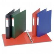 Classeur à 4 anneaux dos 6 cm plastifié intérieur et extérieur rouge - Esselte