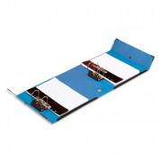 Classeur à deux leviers Millex en PVC intérieur et extérieur bleu, dos de 9.5cm - Arianex