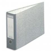 Classeur à levier en carton gris A3 à l'italienne dos 70mm - Exacompta