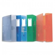 Classeur à levier Hawaï, en polypropylène translucide 15/10e, coloris assortis, dos de 7cm - Elba