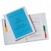 Classeur personnalisable 1 face. En polypropylène, 4 anneaux dos de 15 mm, blanc. - Elba