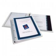 Classeur personnalisable en polypropylène Flexi View dos de 20 mm bleu - Elba