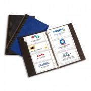 Classeur porte-cartes de visite Elégance 140 cartes bleu - Elba