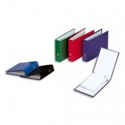 Classeurs à fiches format A5 à 2 anneaux de 25 mm en balacron coloris assortis - Elba