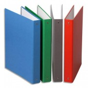 Classeurs format A5 à 2 anneaux de 30 mm en carton pelliculé assortis - Elba