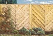 Claustra bois type Saint-Saud - Panneau avec mailles diagonales