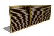 Claustra de séparation en bois - Dimensions (mm) : 1800 x 44 x 1800