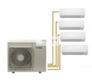 Climatiseur quadri split - 1 pièce de 35 m² - et 3 pièces de 25 m²